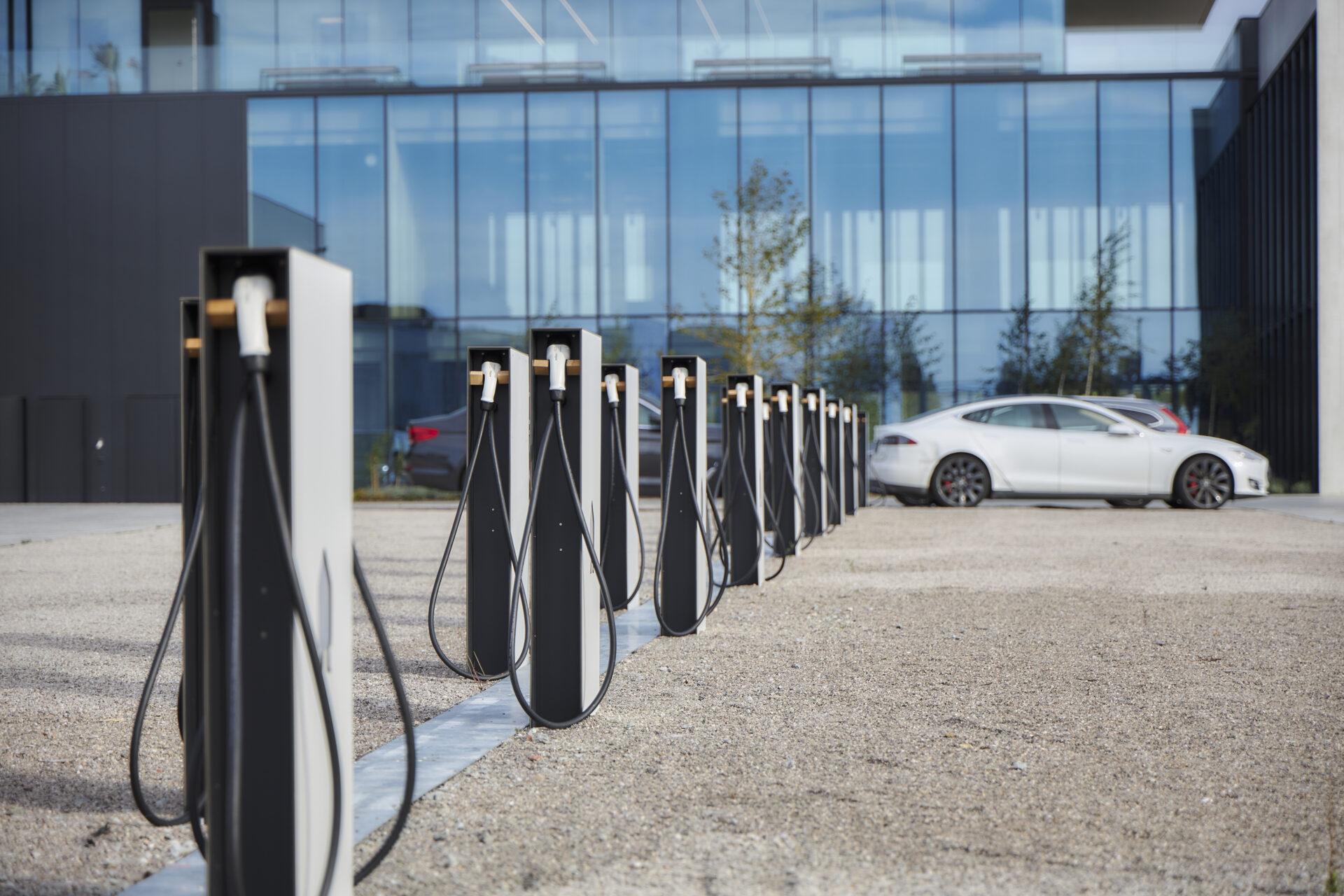 Electric charging car park