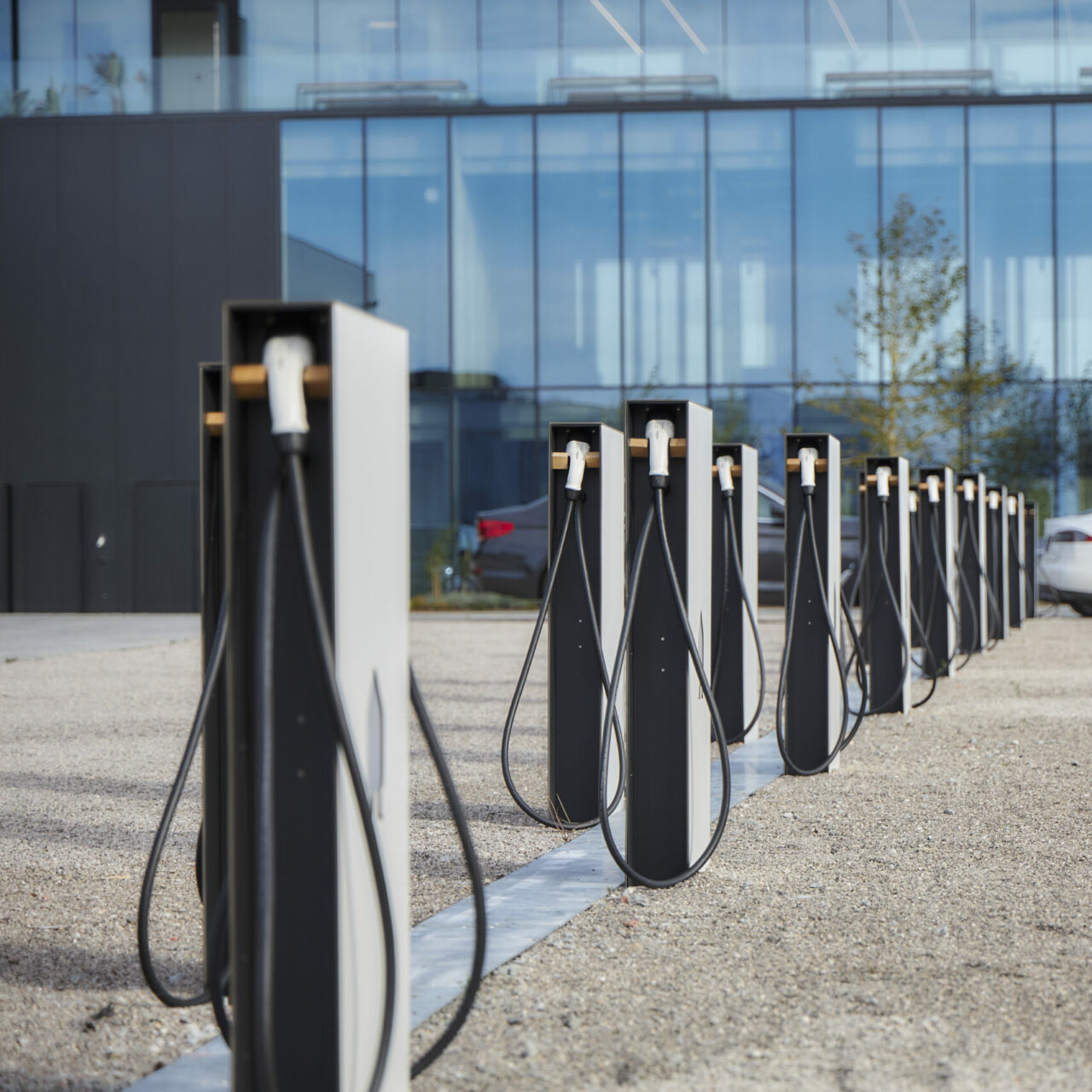 Electric charging car park